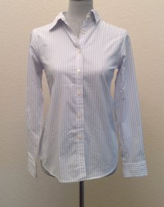 Charter Club Button Down Shirt White / Ligt Blue