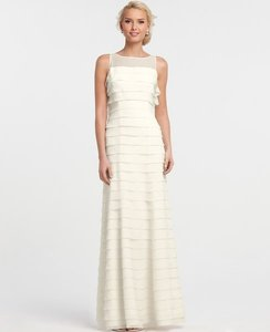 Ann Taylor Ivory Silk 267996 Feminine Wedding Dress Size 8 (M)