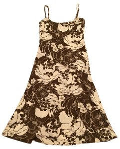 BCBGMAXAZRIA short dress Brown/Cream on Tradesy