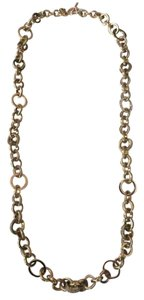 Michael Kors Nwt Michael Kors Gold Tone Statement Pave Link Toggle Necklace 28