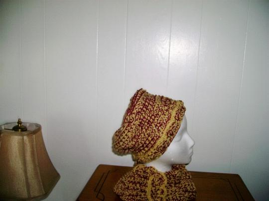 Designed and crocheted by me New, one of a kind, never used, hat and infinity neck warmer set Image 1
