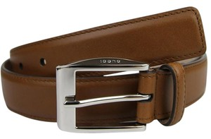 Gucci Medium Brown Leather Square Buckle Belt 120/48 336831 2535 bgh0n