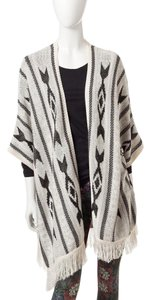 Romeo & Juliet Couture Aztec Fringe Cardigan Sweater