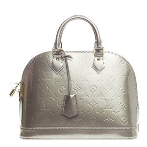 Louis Vuitton Leather Satchel in Silver