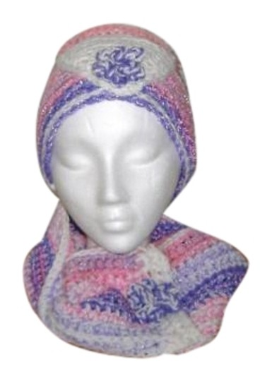 Preload https://img-static.tradesy.com/item/19805364/pink-orchid-purple-and-white-multi-color-new-one-of-a-kind-never-used-infinity-neck-warmer-set-hat-0-1-540-540.jpg