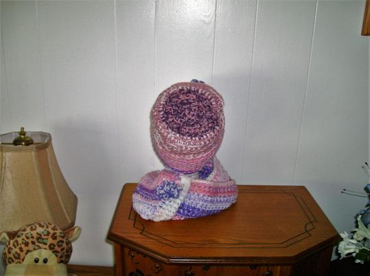 Designed and crocheted by me New, one of a kind, never used, hat and infinity neck warmer set Image 2