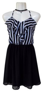 BCX Flowy Striped Ruffle Dress