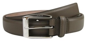 Gucci Gray Leather Classic Square Buckle Belt 110/44 336831 2818 bgh0n