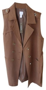 Chico's Trench Style Style: 570183733 Size 12/14 Petite $139 Tag Vest
