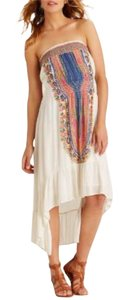 Ivory/Multi color medallion design Maxi Dress by Other