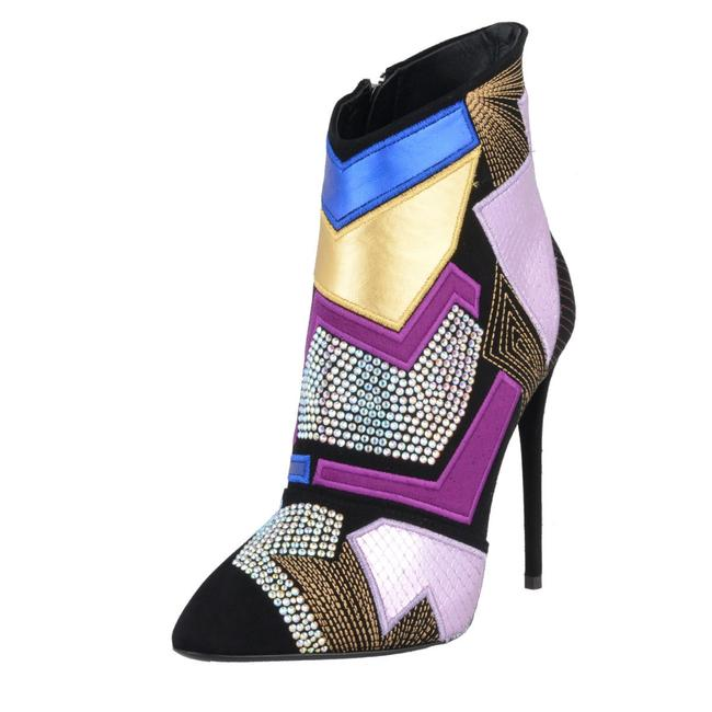 Item - Multi-color Design Women's Snake Skin Leather Ankle Boots/Booties Size US 5 Regular (M, B)