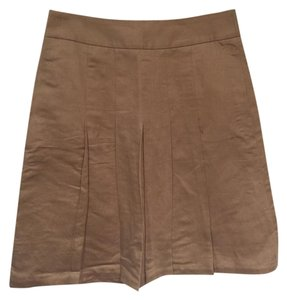 Banana Republic Pleated Skirt Khaki