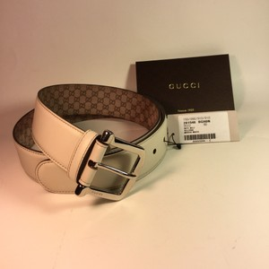 Gucci Gucci Women Belt 281548 winter White guccissimo 36/90