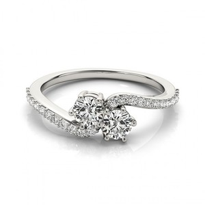 Two Stone Diamond Ring Love Forever