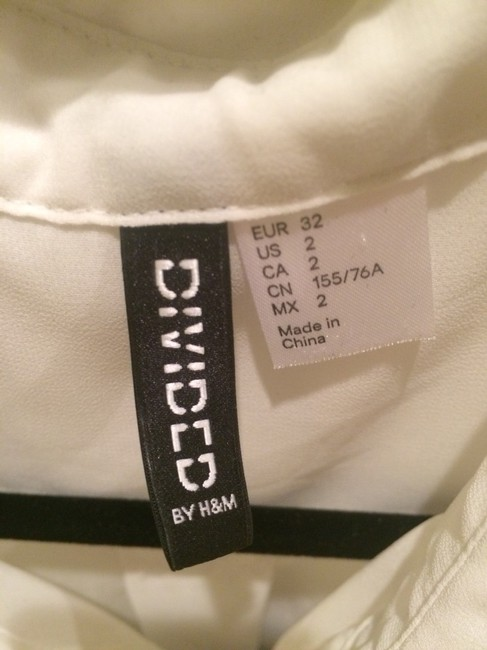 H&M Top White And Gray