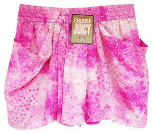 Juicy Couture Tie Dye Stretchy Silk New Skort pink, white