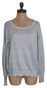 Rag & Bone Linen Marled Baby Knit Scoop Neck Sweater