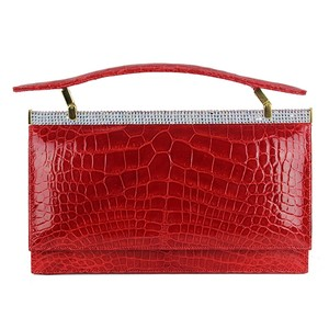 Judith Leiber Crocodile Swarovski red Clutch