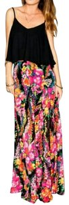 Show Me Your Mumu Maxi Skirt florescent floral