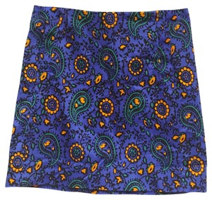 J.Crew Mini Skirt Blue, Orange, Green, Black