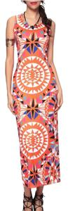 Orange/Red Maxi Dress by Fashion Mia