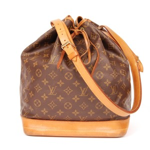 Louis Vuitton Noe Gm Monogram Canvas Leather Tote in Brown