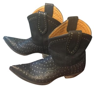 Old Gringo Studded Distressed Black Boots
