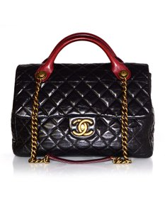 Chanel Quilted Leather Satchel