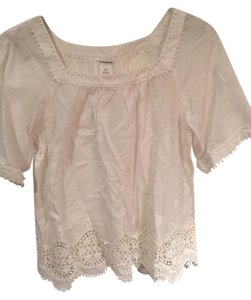 Club Monaco Boho Embroidered Cotton Top White