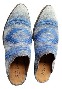 Matisse Western Leather Blue Mules