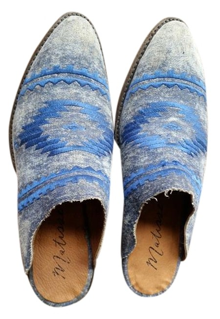 Item - Blue Hecho A Mano Mules/Slides Size US 9.5 Regular (M, B)