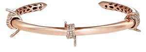 Fallon Fallon Killer Rose Gold CZ Barb Wire Cuff Bracelet New