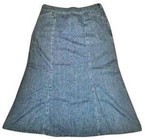 Pendleton Casual Vintage Fit And Flare Skirt Medium Blue