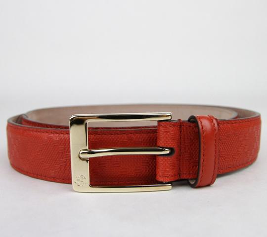 Gucci Diamante Leather Square Buckle Orange Red Belt 85/34 345658 6516 Image 1