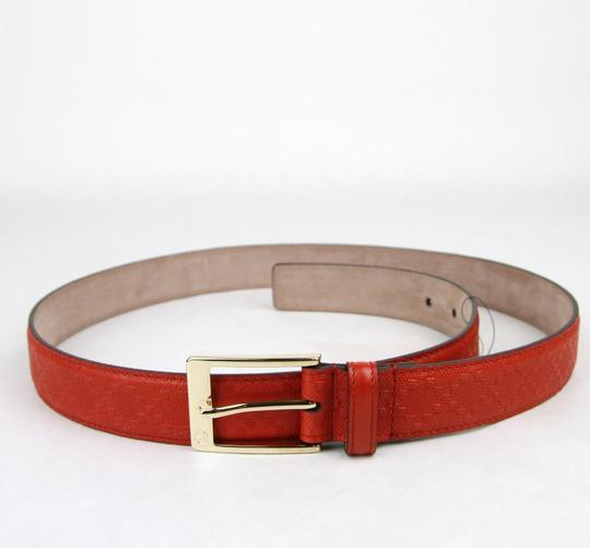 Gucci Diamante Leather Square Buckle Orange Red Belt 85/34 345658 6516 Image 3