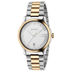Gucci Gucci Ladie's G-Timeless Two Tone Diamante Watch