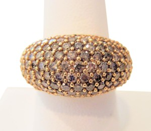 Other 3 CTw Champagne Pave Diamond Dome Ring, 10 KT Yellow Gold