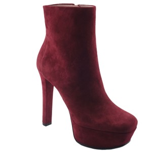 Gucci 388464 Leila Suede Boot Burgundy Boots