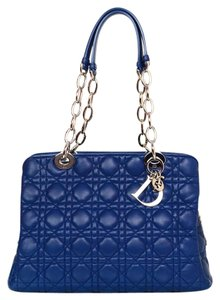 Dior Quilted Shopping Silver Hardware Tote