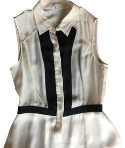 INTERMIX Top White and black