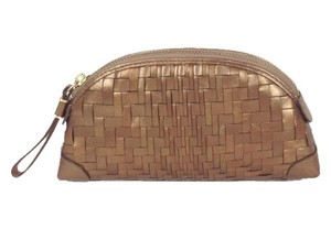 Cole Haan Genevieve Woven Leather Dome Cosmetic B23927