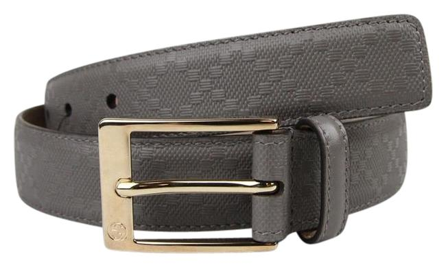 Item - Gray Diamante Leather with Square Buckle 110/44 345658 1226 Belt