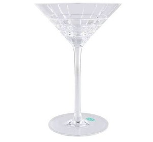8 Tiffany & Co. Plaid Martini Glasses. Brand New!
