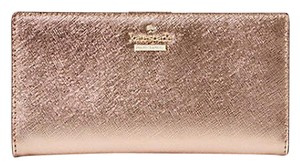 Kate Spade Cameron Street Stacy Rose Gold Leather Continental Wallet PWRU5072