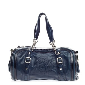 Balenciaga Leather Satchel in Navy Blue