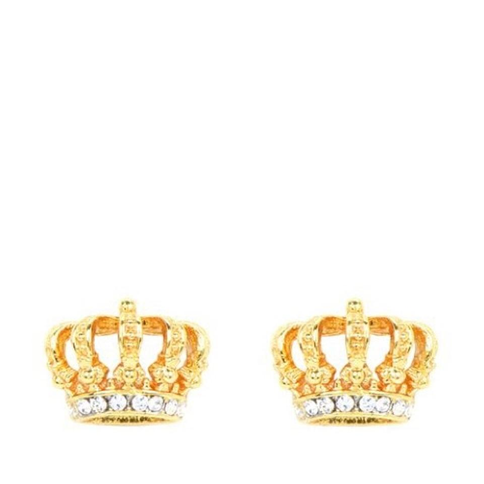 lovely product stud for ear earrings women silver crown crystal plated