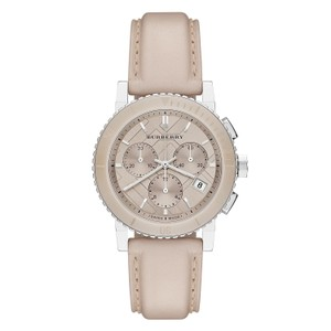 Burberry Burberry The City Beige Leather Chronograph Watch BU9702