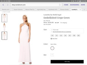 Laundry By Shelli Segal Embellished Crepe Gown Wedding Dress