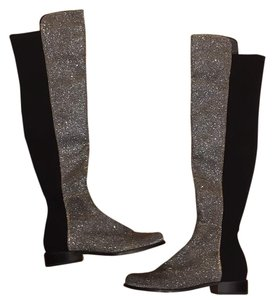 Stuart Weitzman Over The Knee Sparkle Kate Moss Holiday Boots