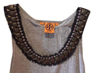 Tory Burch Embellished Night Out Top Grey